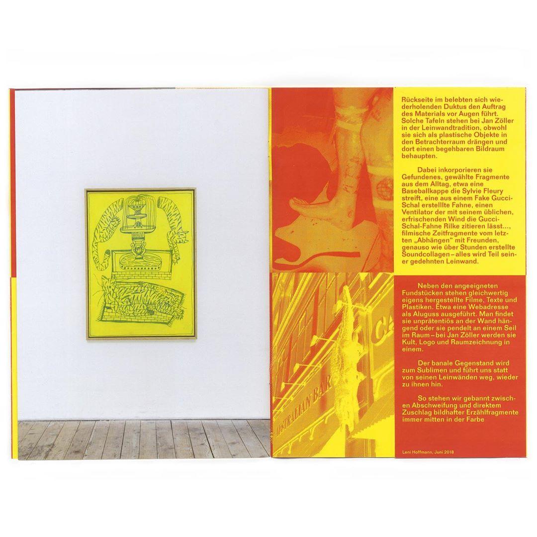 Publication with 🔥🔥🔥 painter Jan Zöller (@janzoellerrr) back in 2018. #painting #redyellow #baden #cap