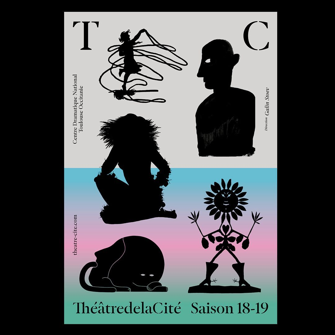 Since almost 2 years, I'm working with the @theatredelacite_cdn on its new identity. I'm doing it with a great team (Eva, Fanny and Stephane) and the precious help from @documents.design (signaletics). We are also regulary inviting artists, designers, professionnel or amateur, to contribute to our project. Among them, @mrzyk_moriceau @mcfetridge @timlahan @damienpoulain @irisdemouy @sammystein_ @woshibaii and many more already share their work with us... Thank you !