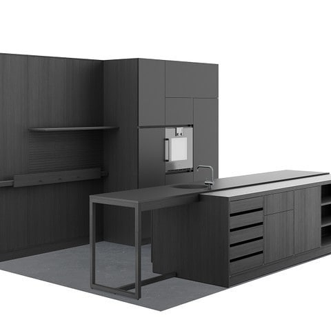 J.GAST - a collaboration between @officeheinzelmannayadi @holzrausch_official and us- it's a kitchen system which combines the strength of industrial manufacturing with skilled craftsmanship - @j.gastofficial  The unique intelligence lies in a patented and completely rethought construction method that can be seamlessly adapted to any architecture. These kitchens do not need the double side walls and covers that are common in the industry. The design of the system follows an holistic approach. The structure is designed for digital connected planning and production processes. This enables efficient planning, as with the system manufacturer but is combined with the use of natural materials and craftsmanship details in execution, usually found only in high-priced individual carpenter kitchens. The Munich-based company reinterprets the kitchen as a modern and honest piece of furniture in the middle of the living room, apart from the cost-optimized mass market.