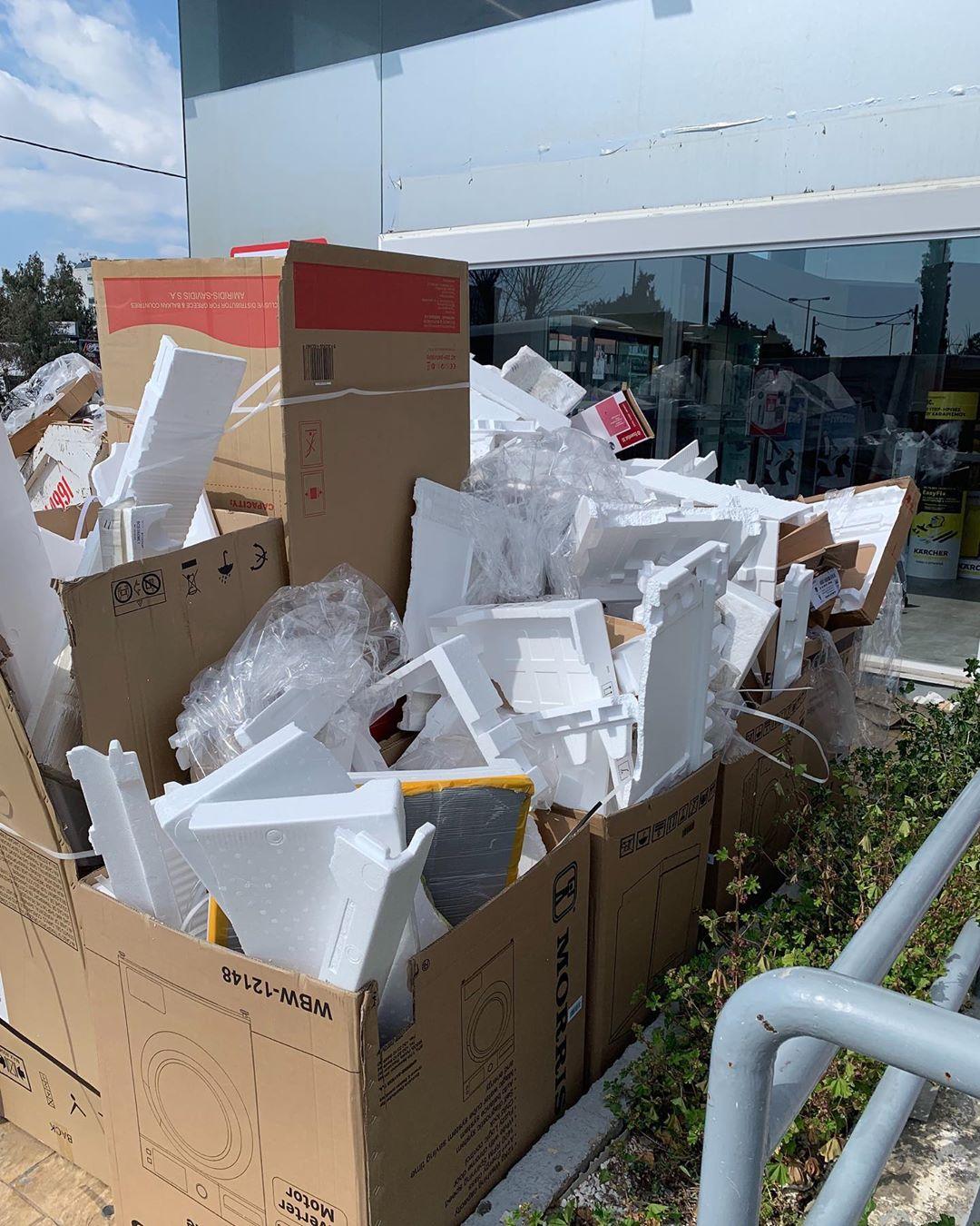 • Styrofoam 🗑 trash •