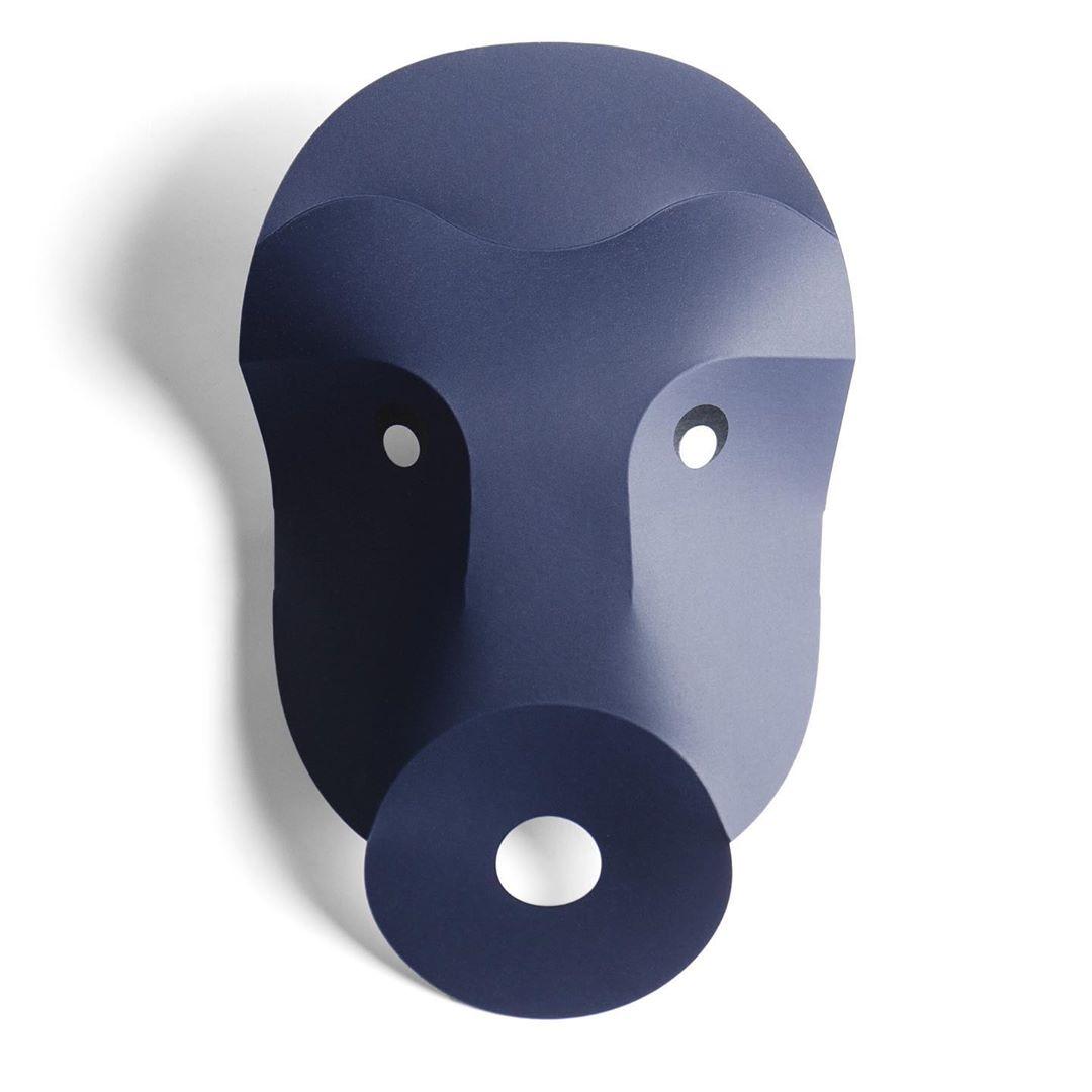 Visages linoleum & paper mask